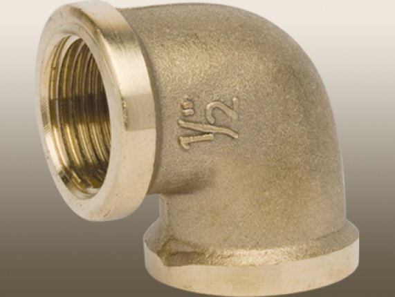 BRASS 90° ELBOW FITTING