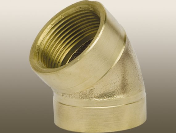 BRASS 45° ELBOW FITTING