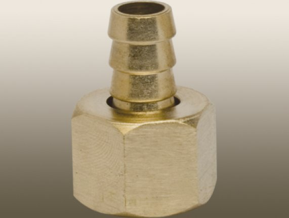 SWIVEL FEMALE THREAD TO AIR HOSE BARB BRASS STRAIGHT COUPLER