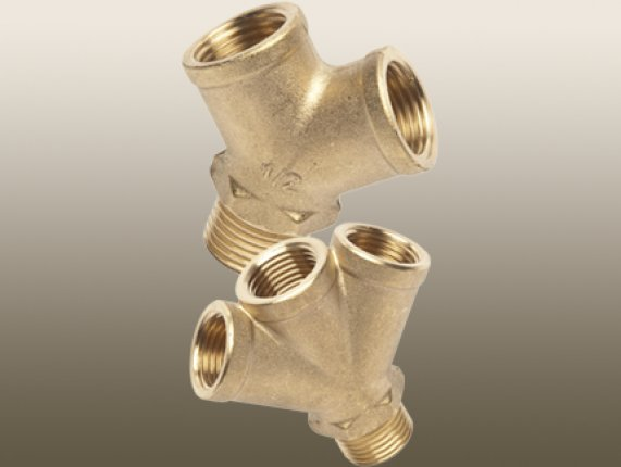 BRASS PLUMBING Y 2 WAY & 3 WAY FITTING