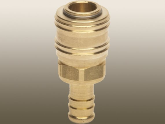 BRASS QUİCK - CONNECT FITTING with HOSE BARB