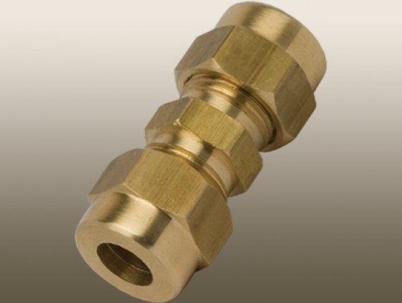 STRAIGHT COMPRESSION UNION with BRASS OLİVE