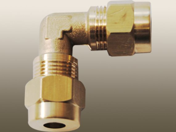 ELBOW COMPRESSION UNION with BRASS OLİVE